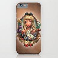 Follow The White Rabbit. iPhone 6 Slim Case
