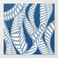 Al Peas: Blue Tonal Canvas Print