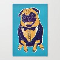 Henry The Pug Canvas Print