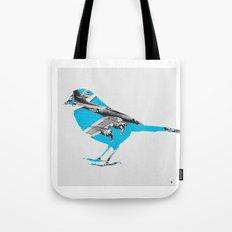 Blue Bomber Bird Tote Bag