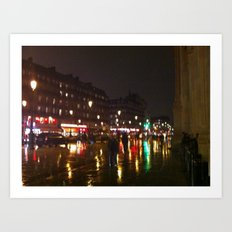 Paris: City Street 2 Art Print