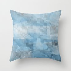 Abstract blue pattern 3 Throw Pillow
