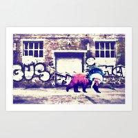 Bear Wall-king Art Print