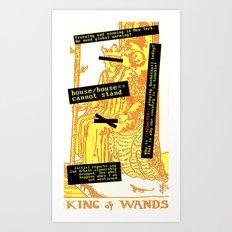 King Combover Art Print