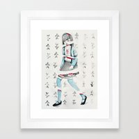 Sliced Framed Art Print