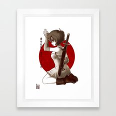 Swordsgirl Framed Art Print
