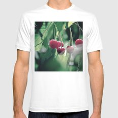 Cherries Mens Fitted Tee SMALL White