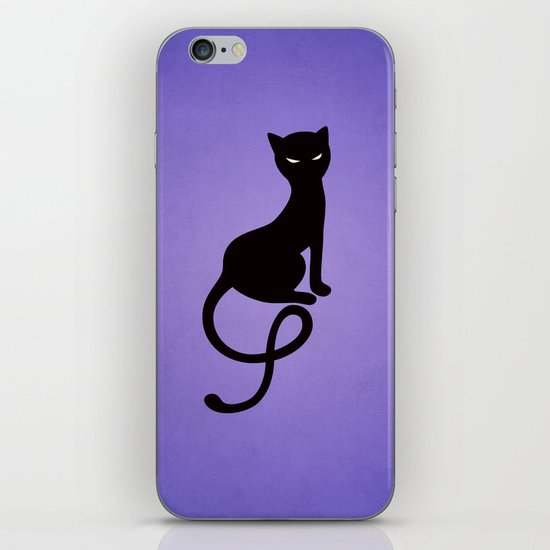Gracious Evil Black Cat iPhone & iPod Skin