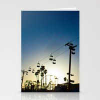 Sunset At The Boardwalk Stationery Cards