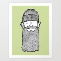 Lumberjack McBeardy Art Print