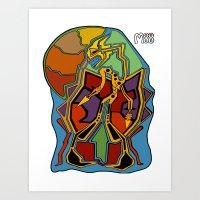 Stuck In Colour Art Print