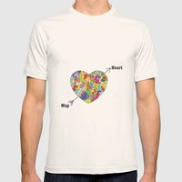 Heart Map Mens Fitted Tee Natural SMALL