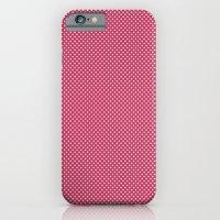 Dark Pink Spotty Pattern iPhone 6 Slim Case