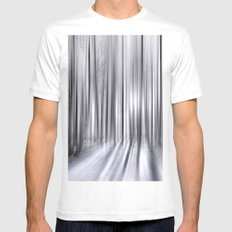 Winter Forest 31 White SMALL Mens Fitted Tee