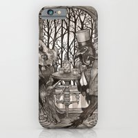 iPhone & iPod Case featuring The Owl & The Raven by Leyla Akdogan