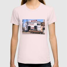 Mexico Street Scene Womens Fitted Tee Light Pink SMALL