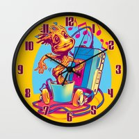 GROOVIN' THROUGH THE GALAXY Wall Clock