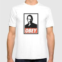 Obey Steve Jobs Mens Fitted Tee White SMALL