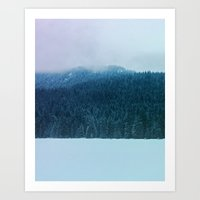 Oregon Winter Art Print