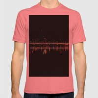 City Lights Mens Fitted Tee Pomegranate SMALL