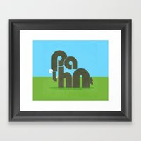 Elephont Framed Art Print