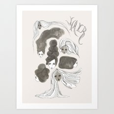 Hair 1 of 3 Art Print