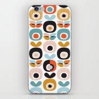 Retro garden apple print iPhone & iPod Skin
