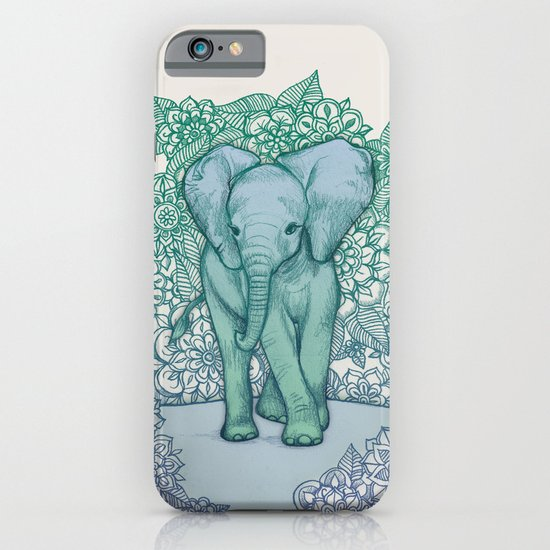 Emerald Elephant in the Lilac Evening iPhone & iPod Case