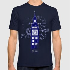 Big Ben Tardis Mens Fitted Tee Navy SMALL