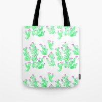 Prickly Pear Spring - Wh… Tote Bag
