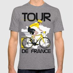 Tour De France Mens Fitted Tee Tri-Grey SMALL