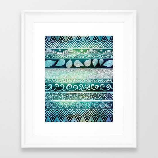 Dreamy Tribal Part VIII Framed Art Print