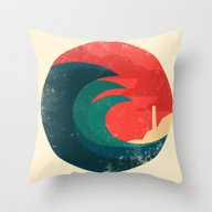 The Wild Ocean Throw Pillow