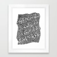 And the Rest is Rust and Stardust Framed Art Print