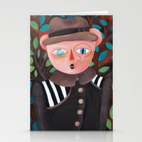 Bear in a coat Stationery Cards