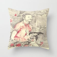 RiFF RAFF with ReD ROSeS Throw Pillow