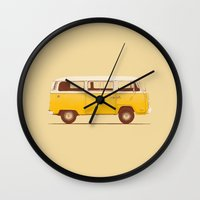 Yellow Van Wall Clock