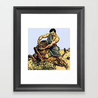 Ron Swanson Slaying A Li… Framed Art Print