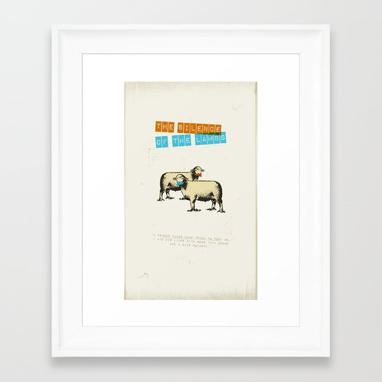 The silence of the lambs Framed Art Print
