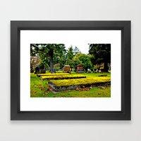 Scenic Cemetery Framed Art Print
