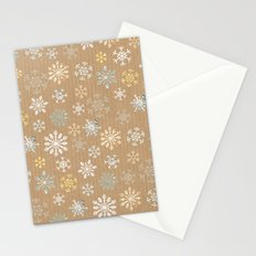 snow flakes pattern Stationery Cards