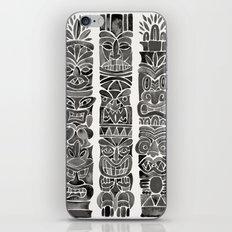 Tiki Totems – Black iPhone & iPod Skin