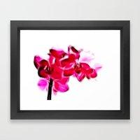 Fractalius pink orchid Framed Art Print