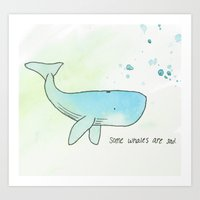 Some Whales Art Print