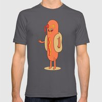 Hot Dog Mens Fitted Tee Asphalt SMALL