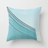 Up meets down Throw Pillow