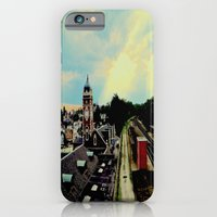iPhone & iPod Case featuring Waiting for a Train In Greensburg by Biff Rendar