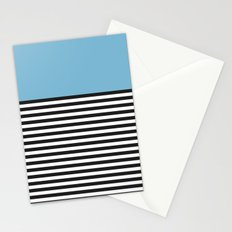 STRIPE COLORBLOCK {DUSK BLUE} Stationery Cards