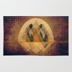 try again tree-angles mountains Rug