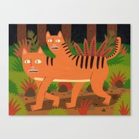 Two-headed Cat Canvas Print